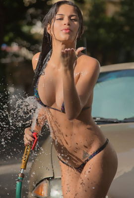 Denisse Gomez Car Wash babe